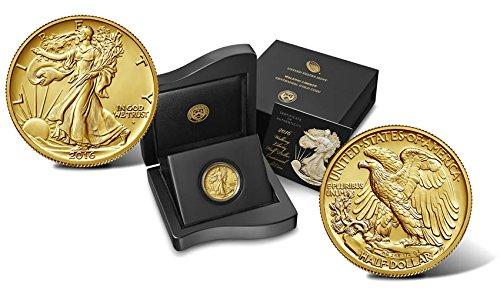 2016 W Walking Liberty 1/2 oz Centennial Gold Coin Half Dollar Uncirculated US Mint ()