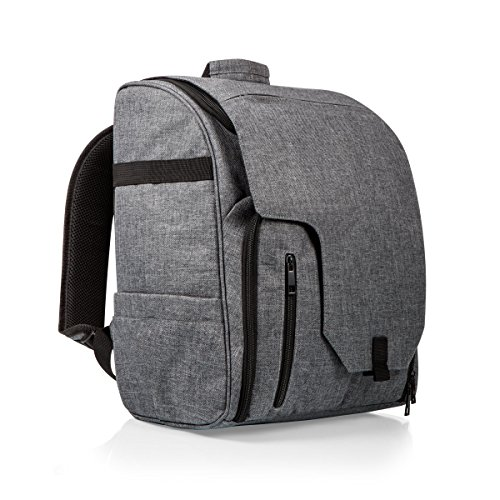 ONIVA - a Picnic Time brand Picnic Time Commuter Insulated Cooler Backpack, Heathered Grey - Excursion Picnic Cooler