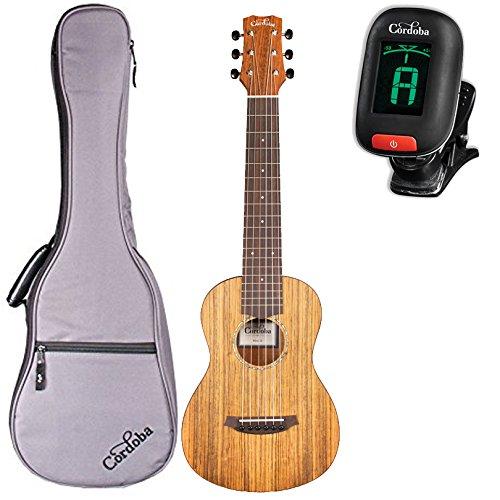 Cordoba Mini O Miniature Acoustic Nylon String Guitar With Cordoba Gig Bag and (Nylon Guitar Tuner)