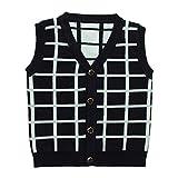 eTree Little Boys' Baby Lattice Pattern V Collar Cardigan Knitting Vest Sweater