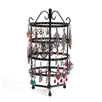 4 Tier Metal Jewelry Organizer Hanger Display Stand, Earrings Holder Rack Home Wall Art Decor,Design for Earrings, Bracelets, Rings, Necklaces