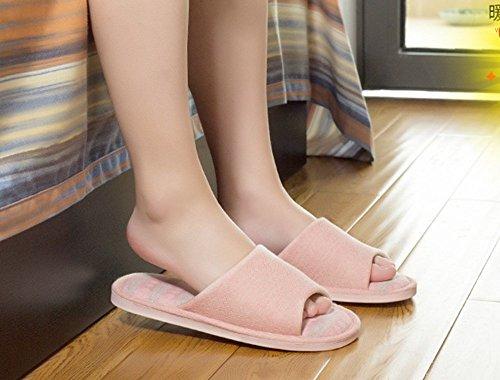 Non Lin Pantoufles en 41 Femmes Cool Maison Pantoufles 40 à en Hommes Pink Lin et pour Sandales GR Pantoufles Domicile glissantes OEqwFydE