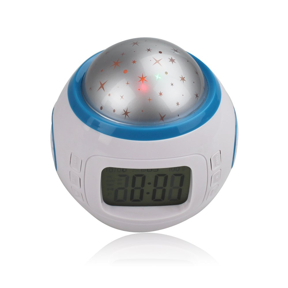 SUNDREAMTECH® Reloj despertador LED con luz nocturna Proyector de ...