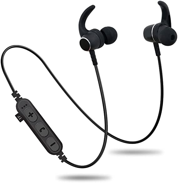 Amazon Com Bluetooth Headphones With Tf Sd Card Slot Magnetic Wireless Sports In Ear Earbuds Headsets With Mic Wireless Bluetooth 4 2 Magnetic Sports Headset Waterproof Outdoor Black Home Audio Theater