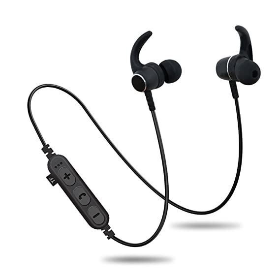 0d411a9de1e82f Bluetooth Headphones with TF SD Card Slot,Sweatproof Wireless in Ear Earbuds  Headsets Bluetooth 4.2