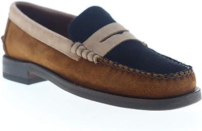 Sebago Mens Dan Suede Tricolor Loafers