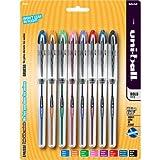 Optimal Uni-Flow Ink System, Rollerball Pen Set of 8, Assorted, Multi
