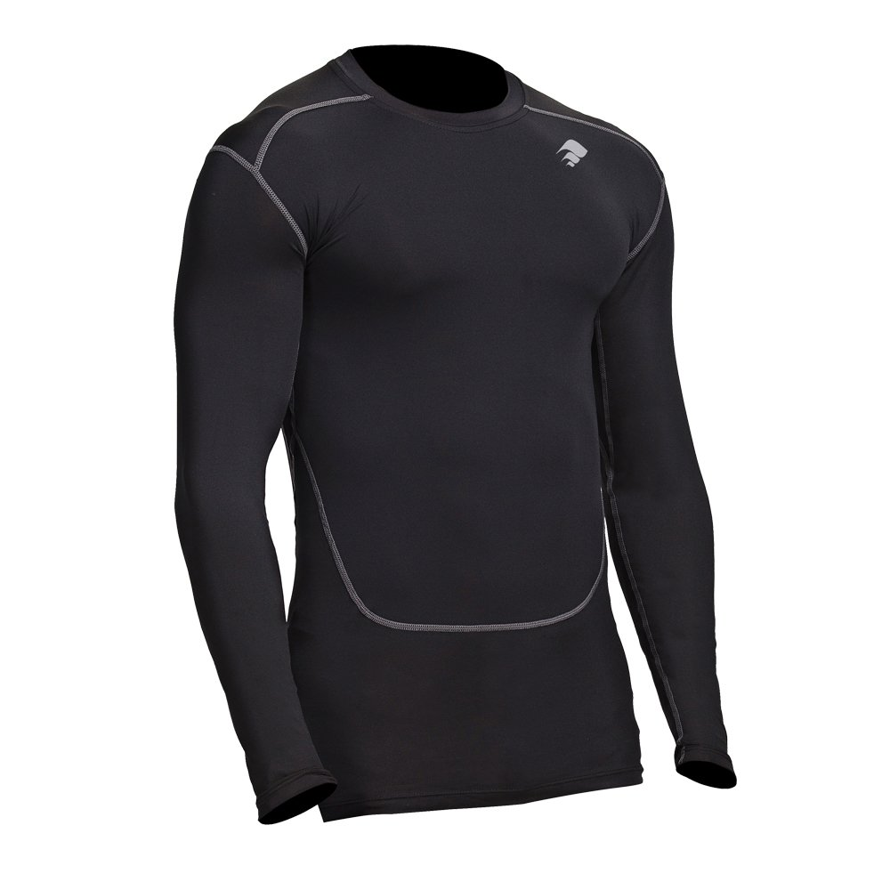 blueee Small 34 37  Compression Shirt Long Sleeve  Men's Cold Top, Best for Gym Running, Basketball