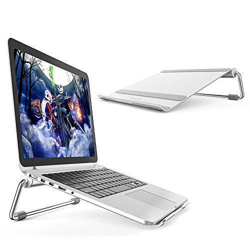 (Laptop Stand, OMOTON Adjustable Multi-Angle Aluminum Notebook Computer Stand, Fits MacBook and Laptops up to 17 inches,)