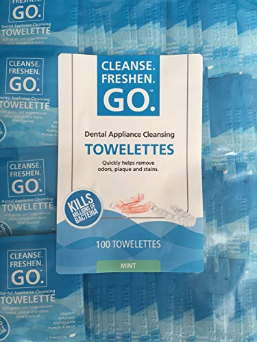 Dental Appliance Cleansing Towelettes (3 Month Supply) (100 Ct Bulk Bag)