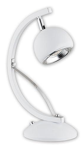 Stylische Tischleuchte Chrom Weiss Retro Gu10 Bis 10 Watt 230v
