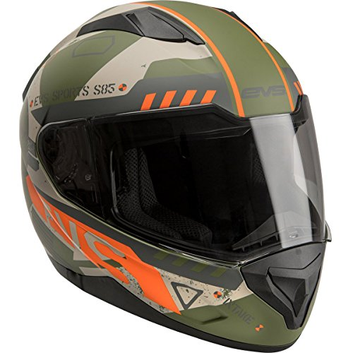 - EVS Sports Unisex-Adult Full-face Style Street Helmet - Stratus Warbird Matte Olive Drab Large