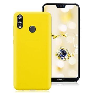 Huawei P20 Lite Funda, Ultra Delgado Color Suave TPU Carcasa Protectora Back Case Cover Ultraligero Anti Rasguños Anti Choque Tapa para Huawei P20 ...