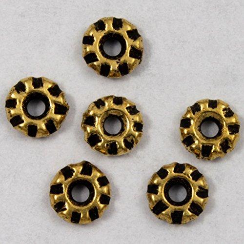 4mm Antique Gold Tierracast Pewter