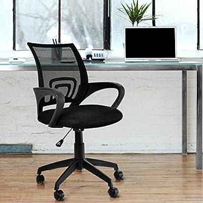 KOVALENTHOR Ergonomic Office Chair| Ergonomic Computer Chair, Computer Desk Task Chair with Armrests, Black