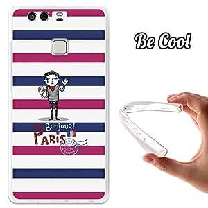 BeCool® - Funda Gel Flexible Huawei P9 Postal con Mimo Carcasa Case Silicona TPU Suave
