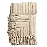 Pier 1 Imports Chenille Streamers Neutral Throw