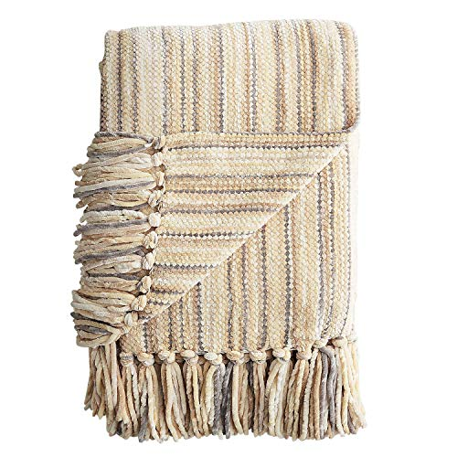 Pier 1 Imports Chenille Streamers Neutral Throw by Pier 1 Imports