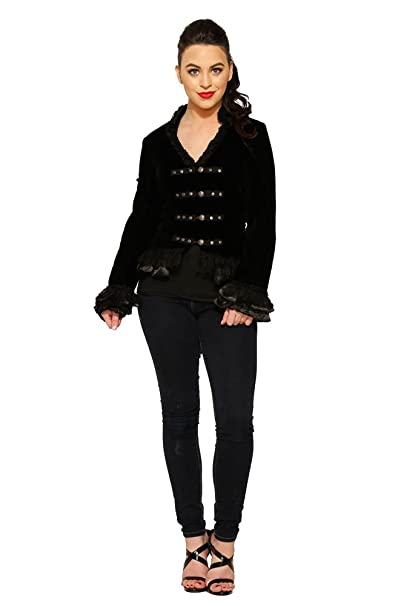Steampunk Jacket | Steampunk Coat, Overcoat, Cape Hearts & Roses Gloria Jacket in Black Velvet (Shipped from US and US Sizes) $59.88 AT vintagedancer.com