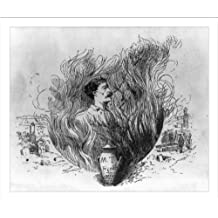 Historic Print (L): The offending illus. of Clemens in flames above his urn, which only appeared in this 1st