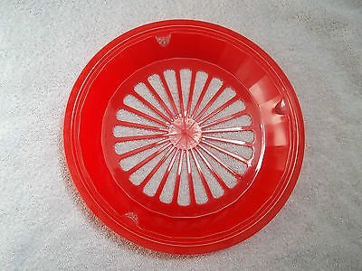 4 RED PLASTIC PAPER PLATE HOLDERS, PICNICS, BBQ, CAMPING, PARTIES ! by Picnic (Thermo Plates Holder)