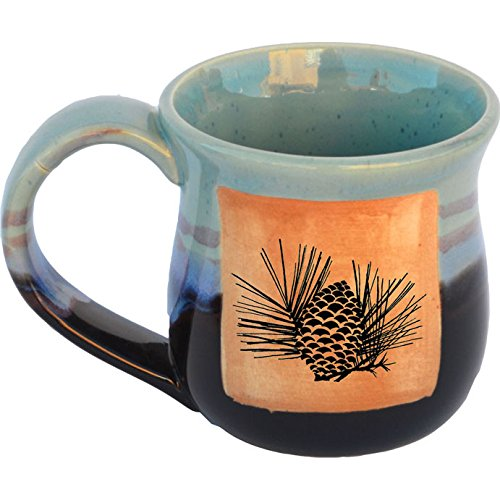 (Pinecone 1 Mug in Mountain Waves Glaze)
