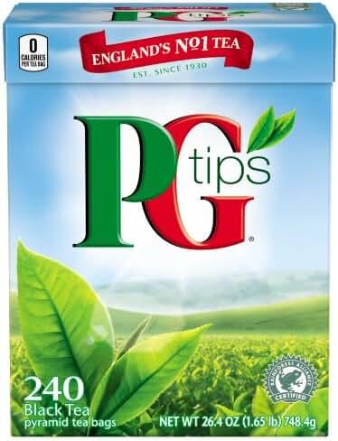 PG Tips Black Tea, Pyramid Tea Bags, 240-Count Box (Pack of 2)