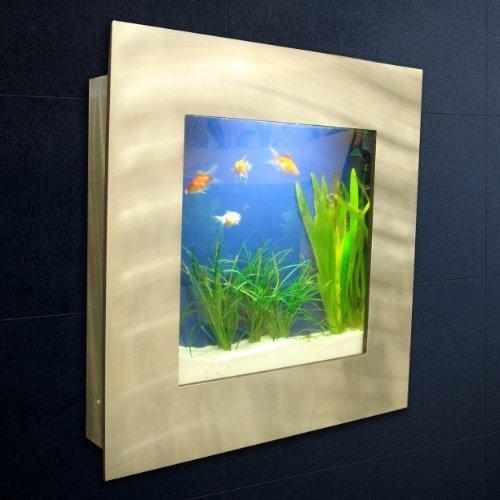 WATERSTYL - DECW-225 - Aquarium Mural carré Brossé Alu - Design ...