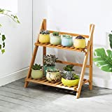 Antiseptic Wood Flower Stand Lightweight Wooden Flower Stand/Indoor / Outdoor Plant Shelf /2F Ladder StairwayPots/Plant Flower Display Stand Strong Bearing Capacity