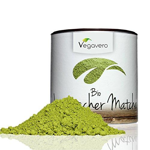 Vegavero Original Bio Matcha Tee, Grüntee in Aromaschutzdose, Pemiumqualität, vegan, 100g, 1 Stück