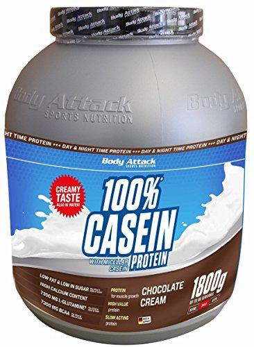 Body Attack 100% Casein Protein Chocolate Cream , 1er Pack (1 x 1.8 kg)
