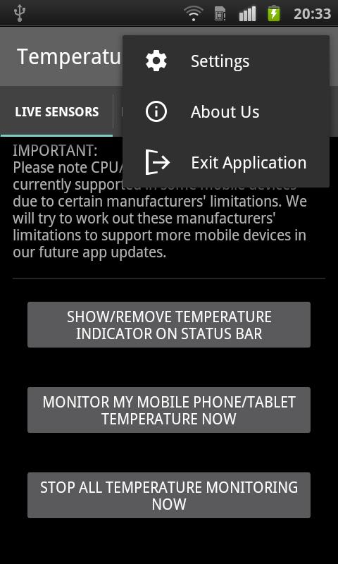 Temperature Monitor - CPU & GPU