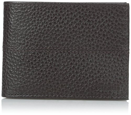 Haan Cole Chocolate (Cole Haan Men's Pebble Slim Billfold with Front Stitching Details, Chocolate, one Size)