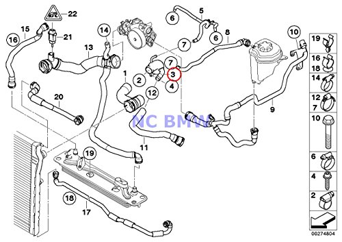 BMW Genuine Cooling System Coolant Hose Feed Pipe X5 M X6 M (Pipe Coolant Hose Feed)