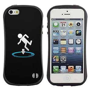 Suave TPU GEL Carcasa Funda Silicona Blando Estuche Caso de protección (para) Apple Iphone 5 / 5S / CECELL Phone case / / Funny Portal Drop /