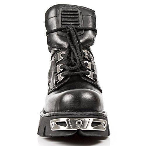 Nuovo Rock 924-s1 Reattore Schwarz Metallico Leder Plattform Gotico Goth Punk Stiefel