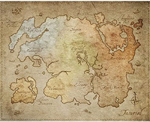 Physical Poster Map of Tamriel (from The Elder Scrolls Online) [21 ...