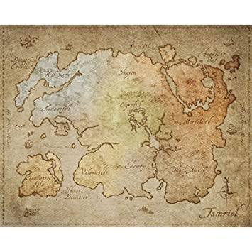 Physical Poster Map of Tamriel from The Elder Scrolls Online 21