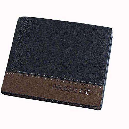 Doinshop Men's Leather Bifold Id Money Holder Purse Wallet New Fashion