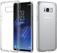 Galaxy S8 Plus Case, MoKo Crystal Clear TPU Bumper Case Slim Fit Hybrid PC Shell [Shock-Absorbing] [Scratch-Re