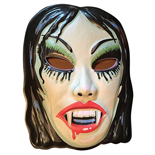 Retro-a-go-go! Vampire Girl, Vac-Tactic Plastic Mask Wall Decor -