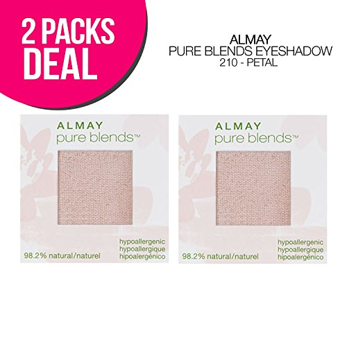 2-PACK ! Almay Pure Blends Eyeshadow, 5 Options, Natural Blends Eyeshadow (210-Petal) ()