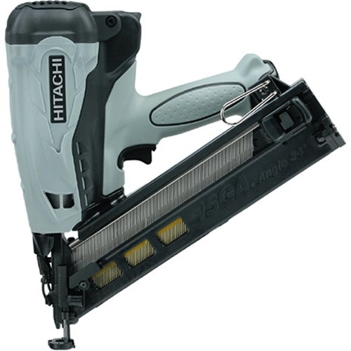 Hitachi NT65GAP9 15 Gauge 2-1/2-Inch Gas Powered Angled Finish Nailer (Discontinued by the Manufacturer) 18v Angled Finish Nailer