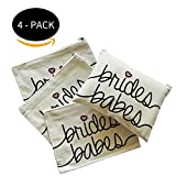 Bridal Party Toiletry Makeup Bag - Brides Babes - 4 PACK - Bachelorette Gifts
