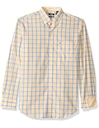 Men's Button Down Long Sleeve Stretch Performance Check Shirt