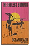 Ocean Beach, New Jersey - The Endless Summer - Original Movie Poster (10x15 Wood Wall Sign, Wall Decor Ready to Hang)