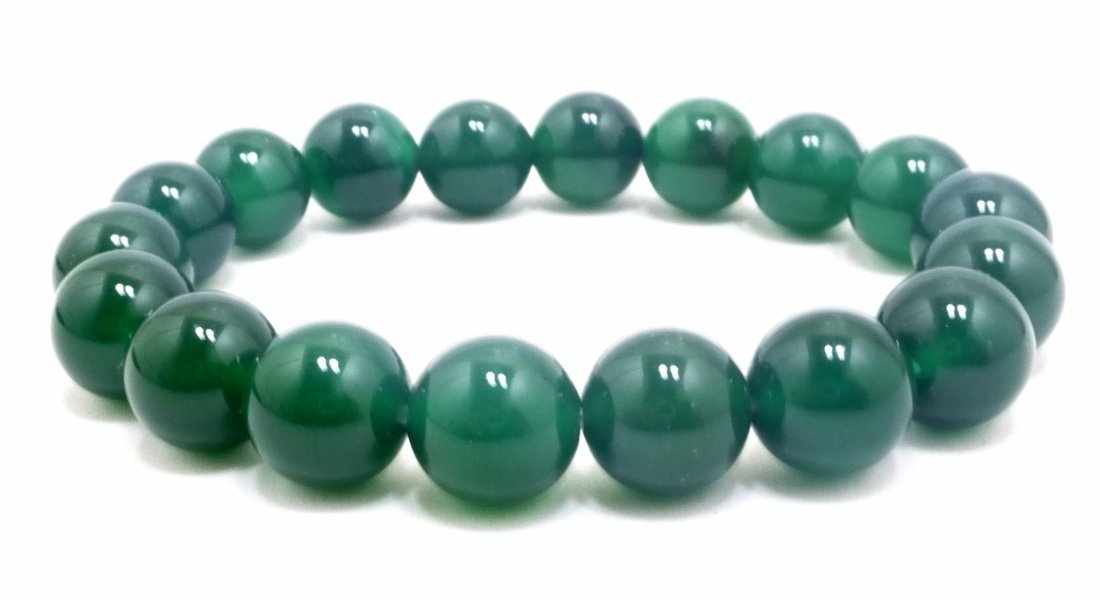Antiquity Sian Art Tibetan 10mm Agate Prayer Beads, Elastic Stretch Beaded Bracelet