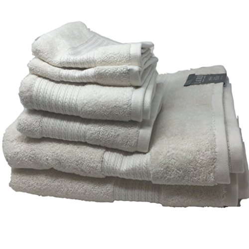 Lauren Ralph Lauren Greenwich Cream Towel 6 Piece Set Bundle - 2 Bath Towels, 2 Hand Towels, 2 Washcloths by Lauren by Ralph Lauren