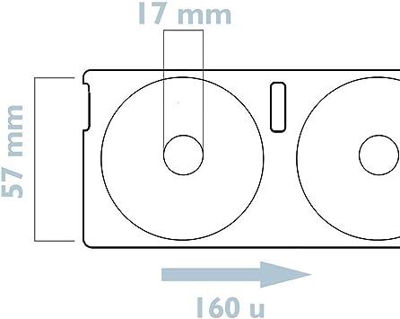 BeMatik Rotoli Bobina 160 etichettes compatibili Dymo S0719250 e Dymo14681 57mm Tondo per CD-Dvd