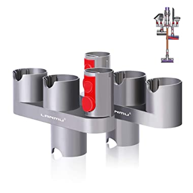 LANMU Docks Station Accessory Holder Attachments Organizer Compatible with Dyson V11 V10 V8 V7 Cordless Stick Vacuum Cleaner,Wall Mount Accessories for Dyson Vacuums